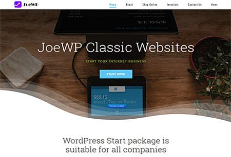 JoeWP WordPress Agentur - WordPress Classic Website