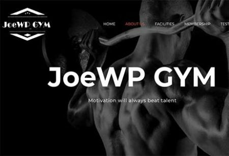 JoeWP - Sale Web Project Fitness Gym