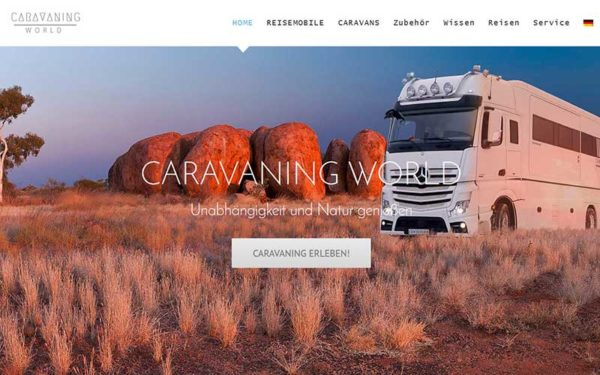 JoeWP WordPress Agency - Website Sale for Caravaning