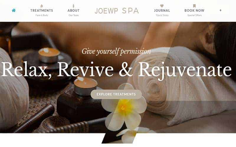 JoeWP WordPress Agentur -Website Verkauf Hotel & Spa