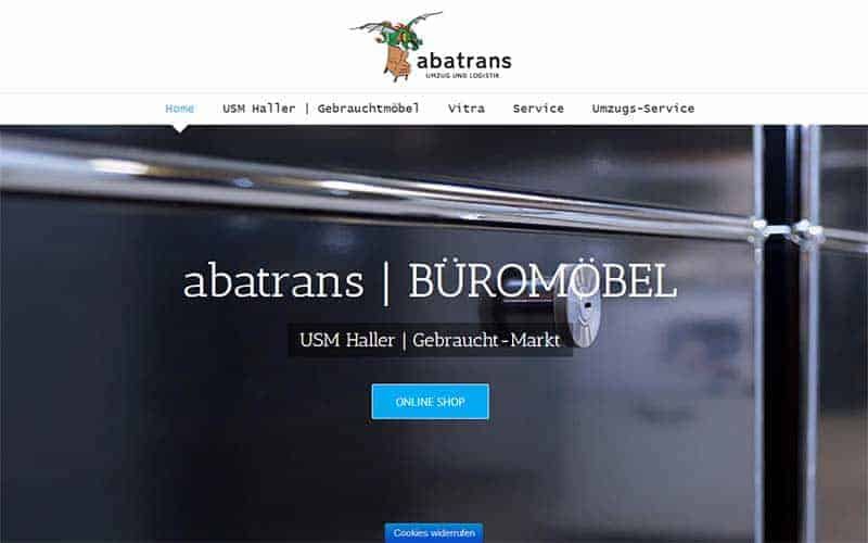 JoeWP WordPress Agentur -Referenzen Abatrans Büromöbel