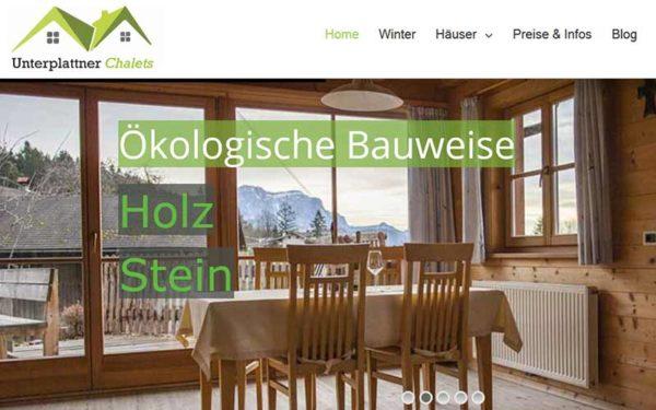 JoeWP References - Chalets Unterplattner