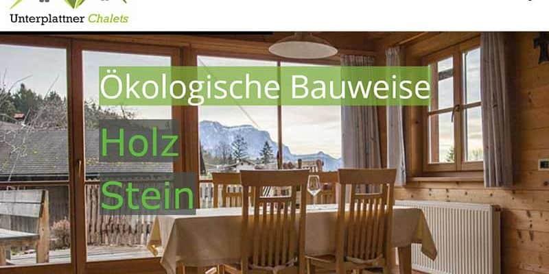 JoeWP WordPress Agency - References - Chalets Unterplattner