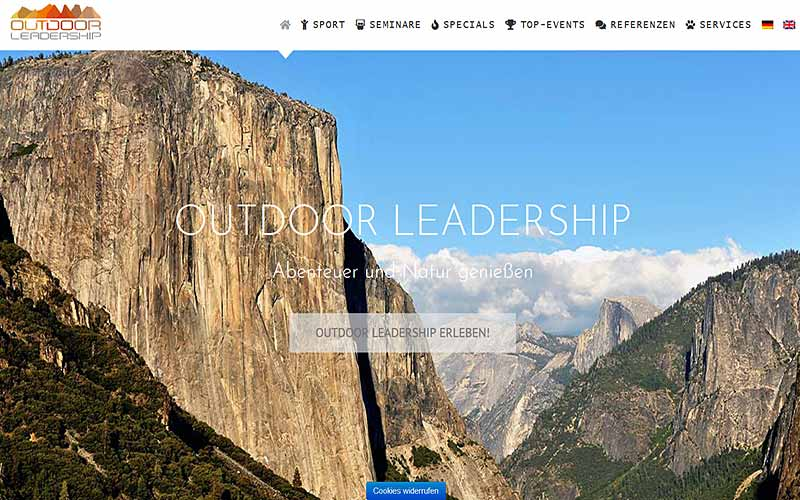 JoeWP WordPress Agentur - Referenz Outdoor Leadership