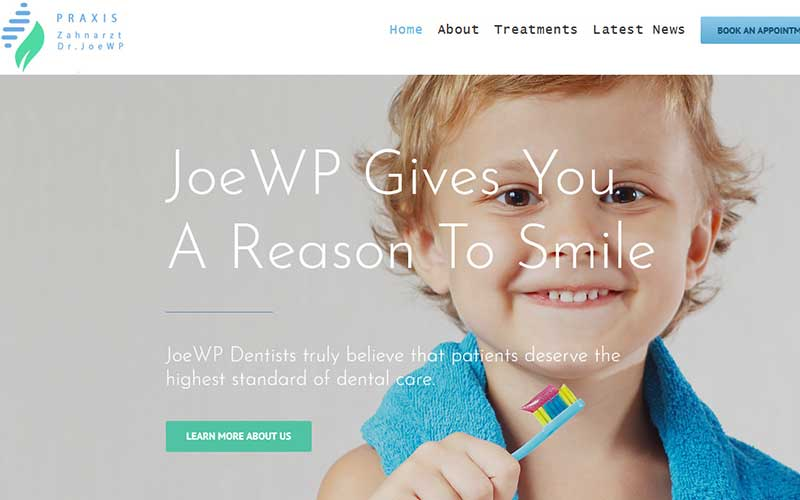JoeWP WordPress Agency - Sale Website Dentist