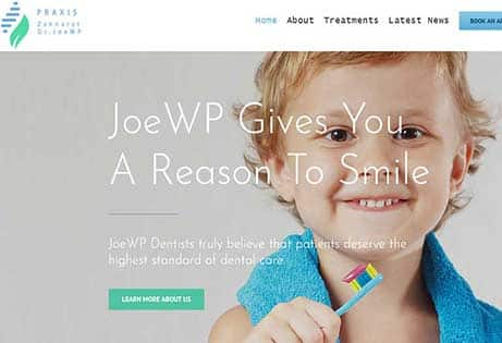 JoeWP WordPress Agency - Sales Web Project Dentist