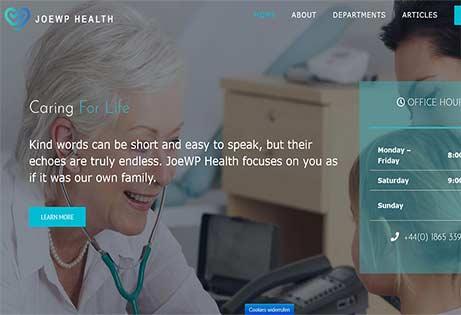 JoeWP WordPress & WooCommerce Agentur - Webprojekt Gesundheitswesen