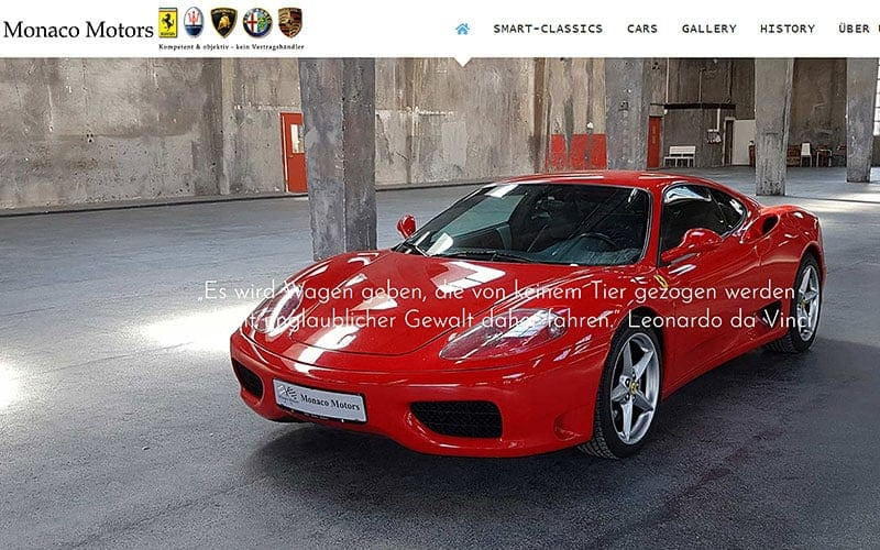 JoeWP WordPress Agency - Monaco Motors