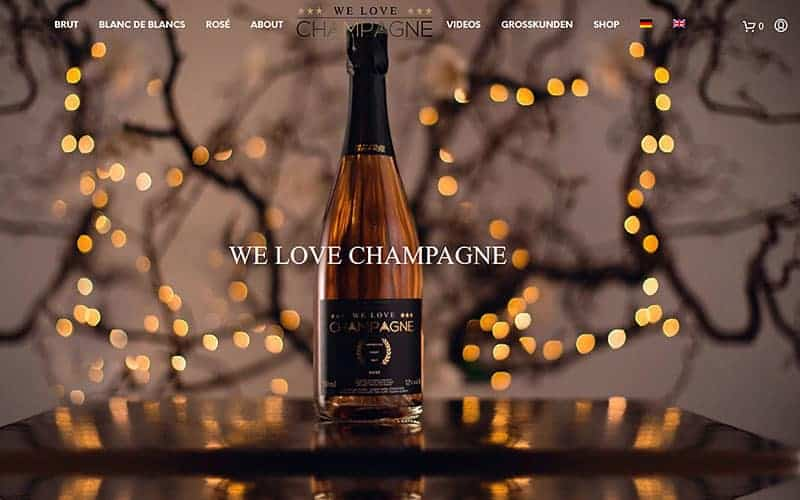 Joe WP Wordpress Agentur - We love Champagne