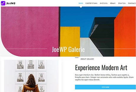 JoeWP WordPress Agentur - Website Galerie - Verkauf