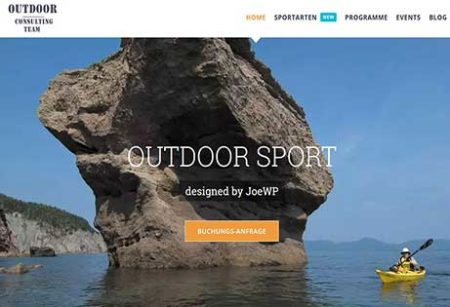 JoeWP WordPress Agentur - Website Outdoor zu verkaufen