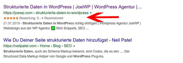 JoeWP WordPress Agentur - Strukturierte Daten in WordPress