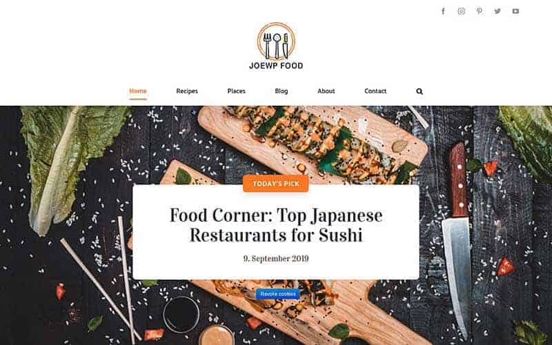 JoeWP WordPress Agency - Website Food - Sales