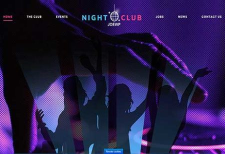 JoeWP WordPress Agentur - Verkauf Website Nightclub