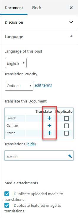 JoeWP - WPML Editor Translation