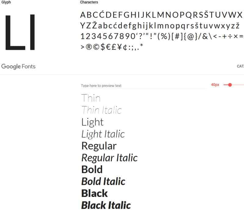 JoeWP - Lato Google Fonts