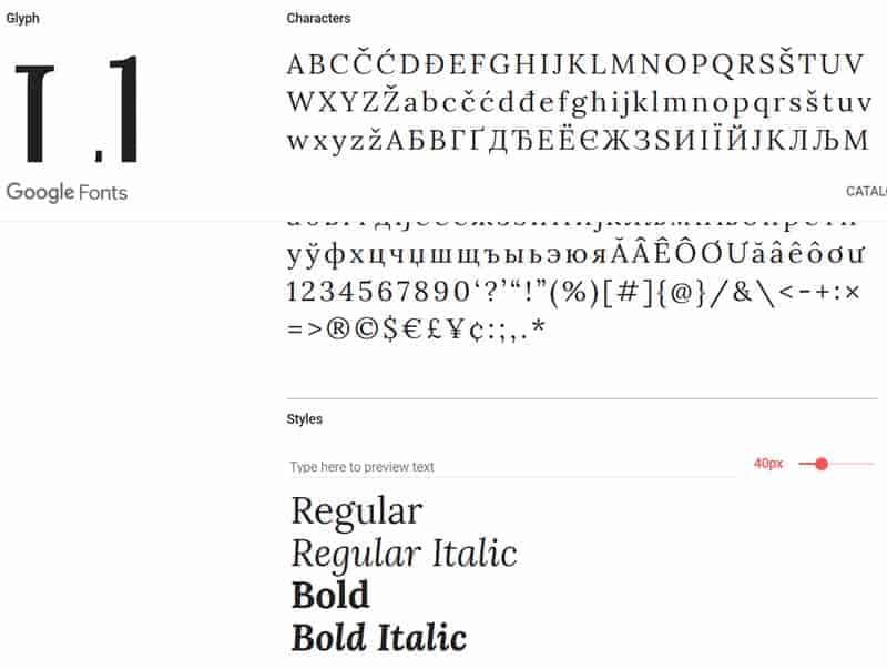 JoeWP - Lora Google Fonts