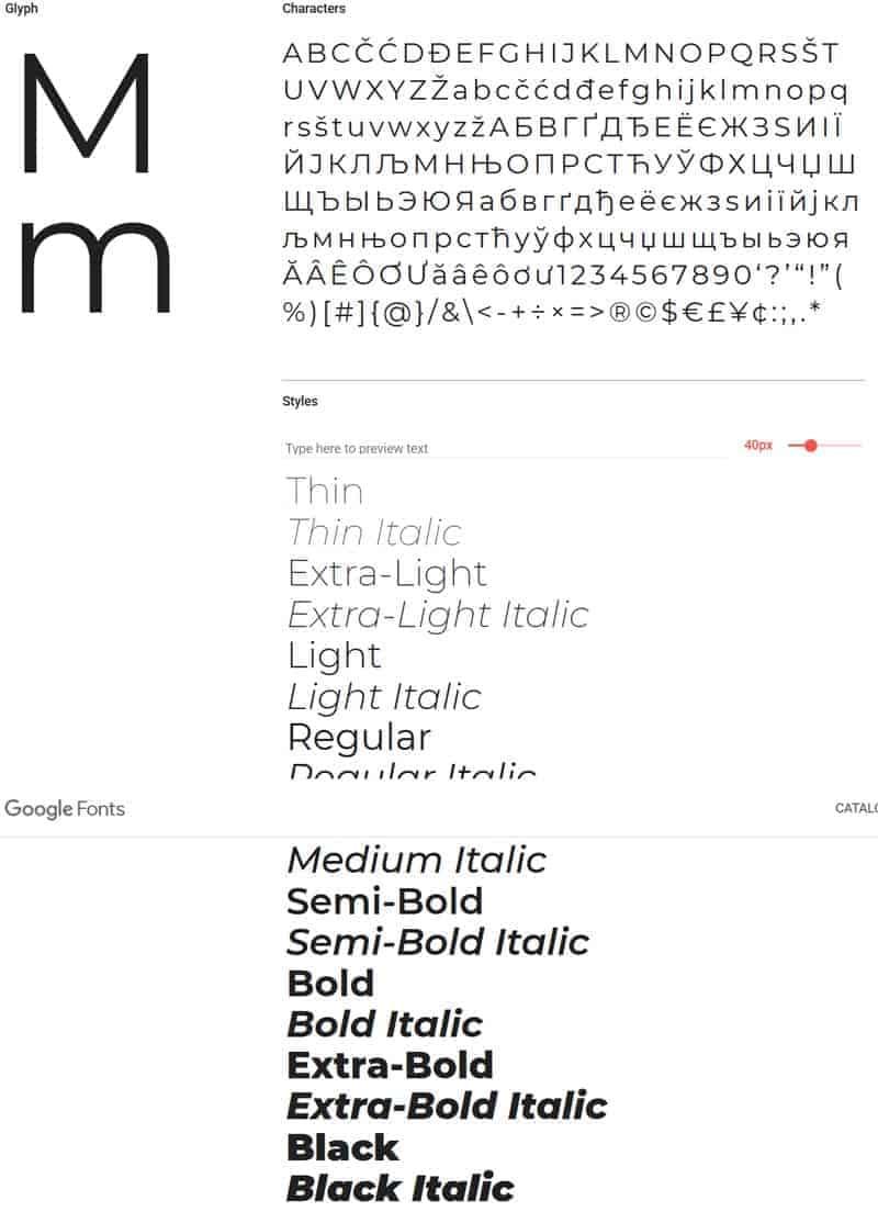 JoeWP - Montserrat Google Fonts