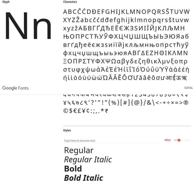 JoeWP - Nato Google Fonts