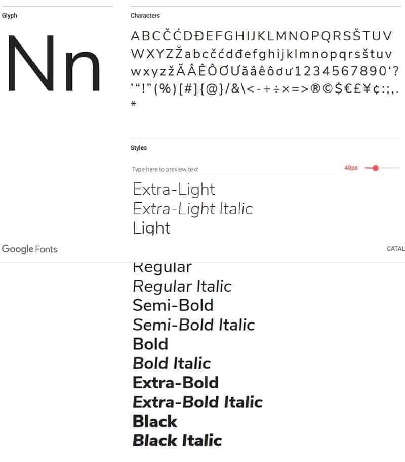 JoeWP - Nunito Sans Google Fonts
