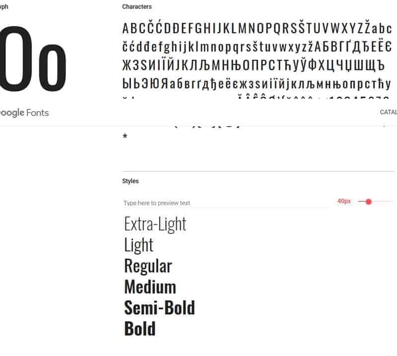 JoeWP - Oswald Google Fonts