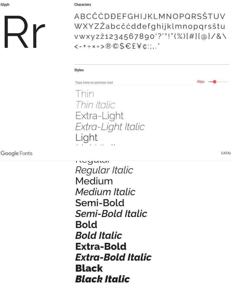 JoeWP - Raleway Google Fonts