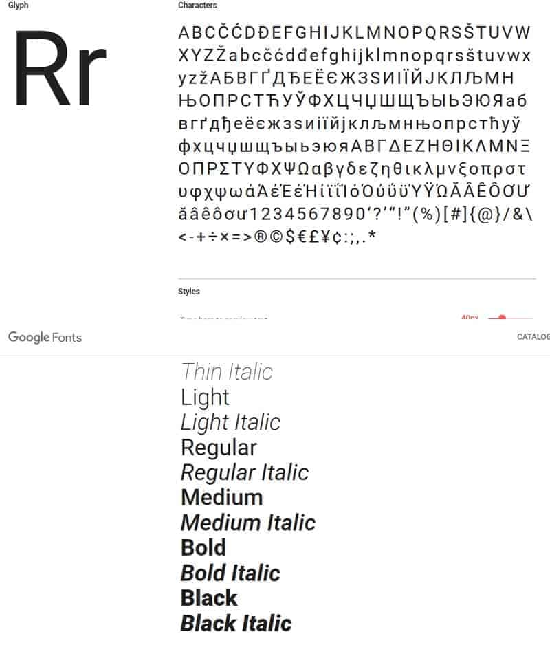 JoeWP - Roboto Google Fonts