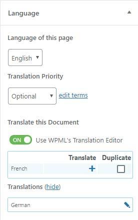 JoeWP - WPML Sprachübersetzung