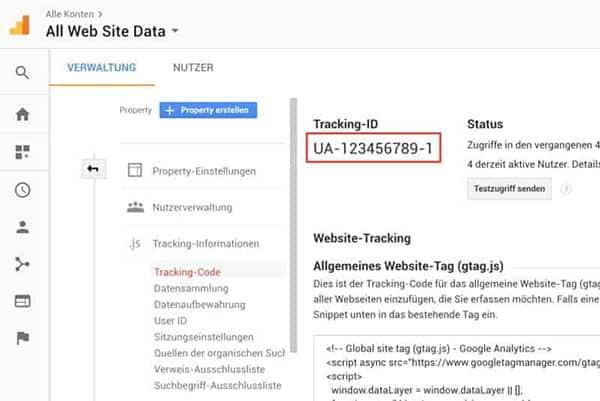 JoeWP - WordPress Agentur - Google Analytics Tracking Code