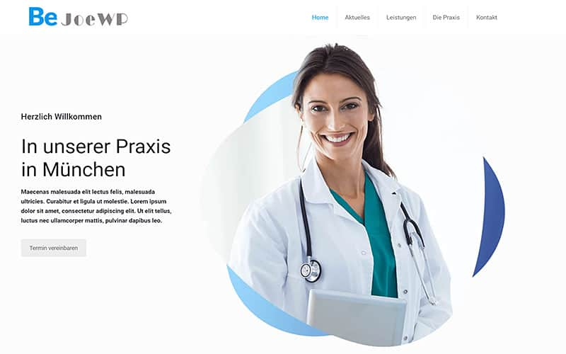 JoeWP - WordPress Agentur - Entrepreneur Website Arzt