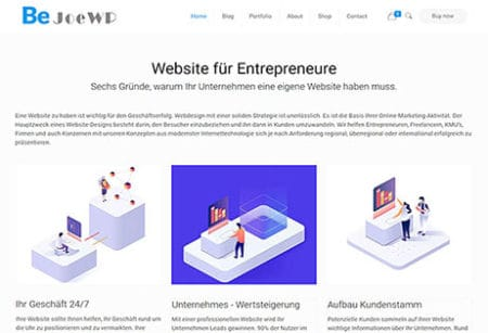 JoeWP - WordPress Agentur - Entrepreneur Website Economy