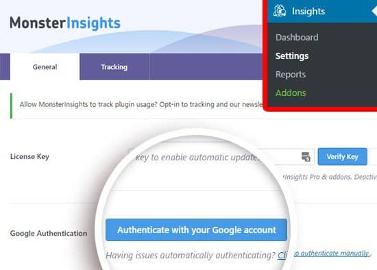 JoeWP - WordPress Agentur - Google Analytics mit MonsterInsights