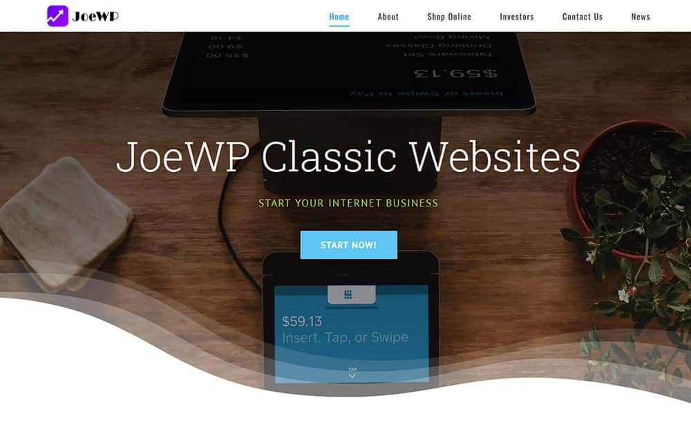 JoeWP WordPress Agency - Sale Classic Website
