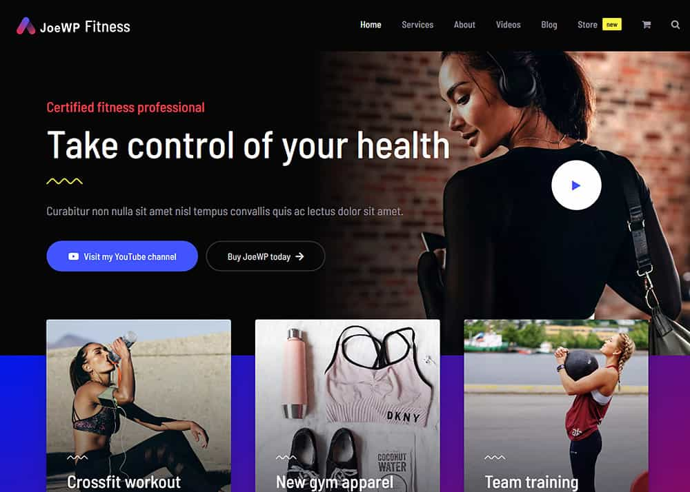 JoeWP WordPress Agentur - Verkauf Fitness Website