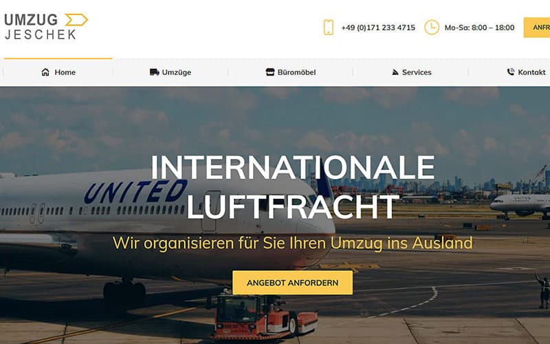 JoeWP - Reference Website Umzug Jeschek