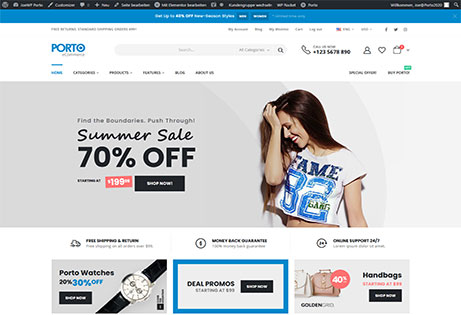 JoeWP WooCommerce und WordPress Agentur - Webprojekt Porto Shop
