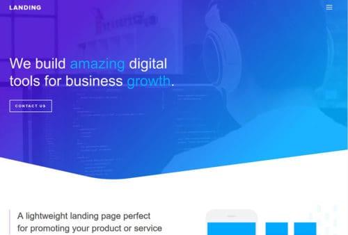 JoeWP WordPress Agency - Landing page Website